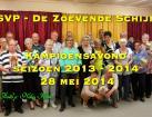 De Zoevende Schijf kampioensavond 28 mei 2014