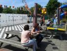 Rijnmond Country Festival opbouwen 16 mei 2014