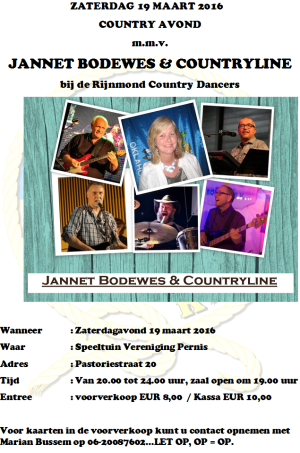 flyer Jannet Bodewes maart 2016
