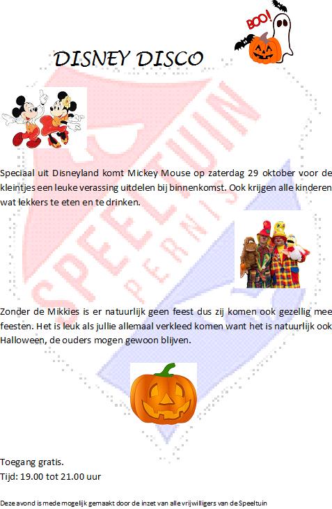 Uit Eten Met Halloween.Disney Disco Halloween Speeltuinvereniging Pernis