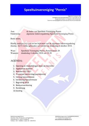 Ledenvergadering Agenda-1